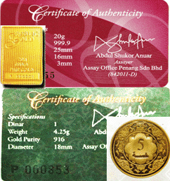 gold bar dan dinar public gold