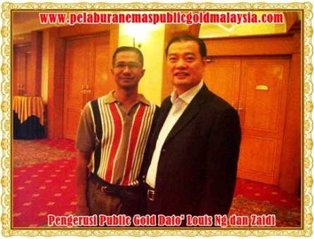 pengerusi public gold Dato' Louis Ng dan zaidiemas