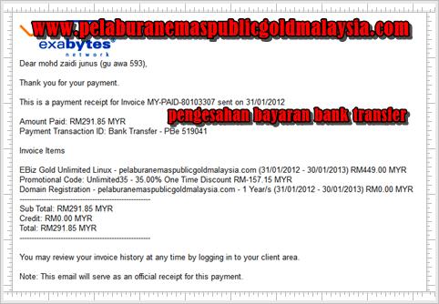 pengesahan bayaran dari exabytes