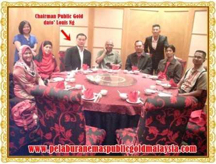 pengerusi public gold dato' louis Ng dan master dealer pg kelantan
