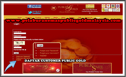 daftar customer public gold
