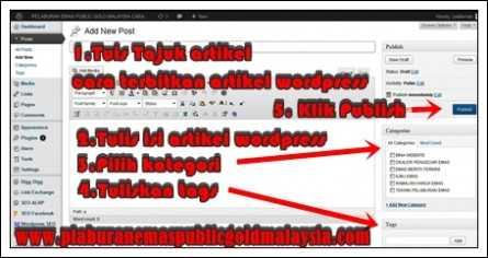 cara-posting-terbitkan-artikel-wordpress CARA POSTING TERBITKAN ARTIKEL WORDPRESS