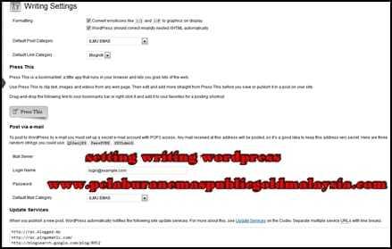 cara-setting-writing-wordpress CARA SETTING WORDPRESS PERKARA UTAMA BINA LAMAN WEB