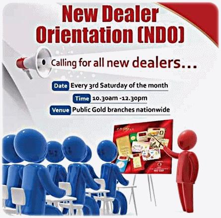 New-Dealer-Orientation-Public-Gold CARA MUDAH JANA PENDAPATAN PASIF BAGI DEALER PUBLIC GOLD