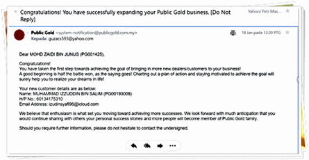 Makluman-Untuk-Introducer-Public-Gold PANDUAN AHLI PUBLIC GOLD DAN TEKNIK PELABURAN EMAS