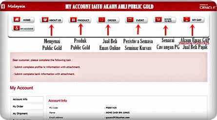 My-Account-Ahli-Public-Gold PANDUAN AHLI PUBLIC GOLD DAN TEKNIK PELABURAN EMAS