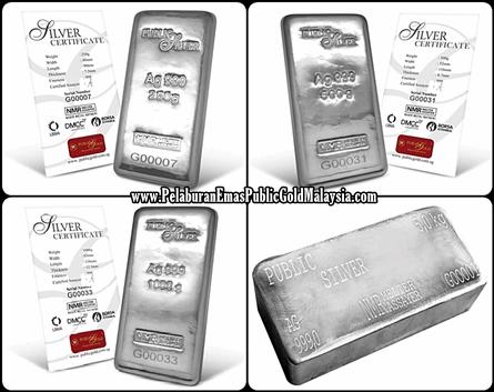 Silver-Bar-Public-Gold 10 SEBAB BELI PERAK 2019 UNTUK PELABURAN SILVER